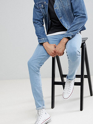 ASOS TALL Skinny Jeans In Flat Light Wash