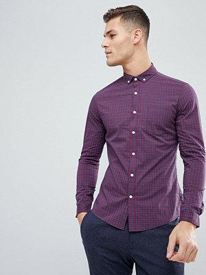 ASOS DESIGN stretch slim check shirt