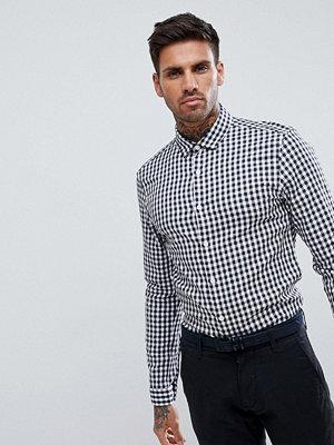 ASOS DESIGN smart stretch slim twill check shirt