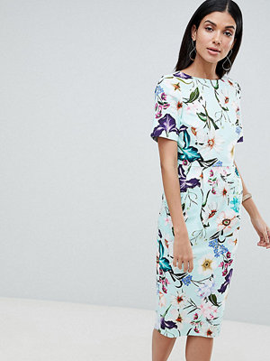 Asos Tall ASOS DESIGN Tall wiggle midi dress in floral print