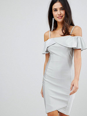 Ax Paris Midi Dress With Overlay