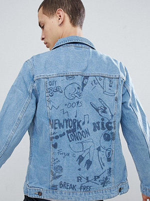 Jeansjackor - Jack & Jones Originals Denim Jacket With Back Print