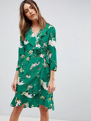 Y.a.s Printed Frill Dress