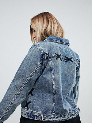 Zizzi Lace Detail Denim Jacket