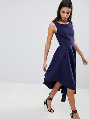 City Goddess Asymmetric Textured Midi Dress