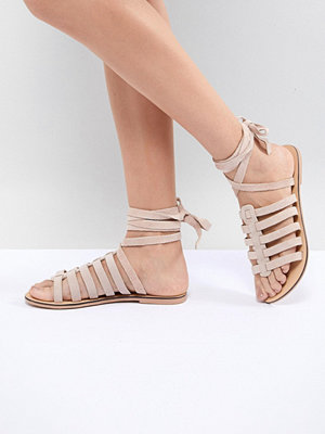 New Look Suede Cage Gladiator Flat Sandal