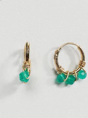 Orelia örhängen Gold Plated Micro Beaded Hoop Earrings