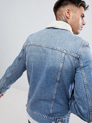 Jeansjackor - Kings Will Dream Honesdale Denim Jacket With Borg Collar