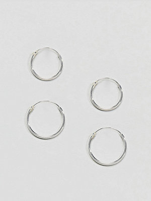 Kingsley Ryan örhängen Sterling Silver Mini Hoop Earrings Set