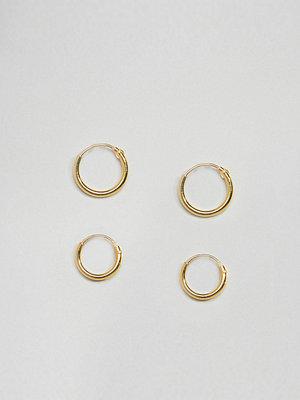 Kingsley Ryan örhängen Gold Plated Mini Hoop Earrings Set