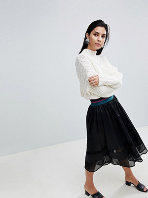 Sisley Elasticated Waist Midi Skirt