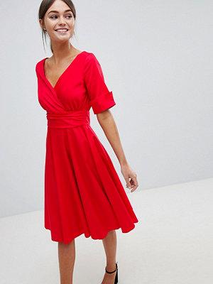 Closet London Closet Wrap Over Midi Dress