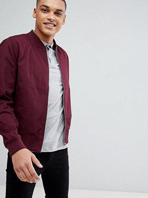 Bomberjackor - New Look Cotton Bomber Jacket In Burgundy