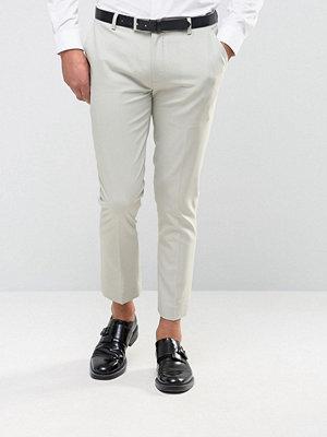 ASOS Super Skinny Crop Smart Trouser in Light Blue
