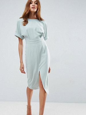 Asos Tall Smart Woven Midi Dress with V Back