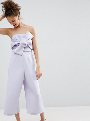 ASOS Petite Structured Occasion Bow Jumpsuit