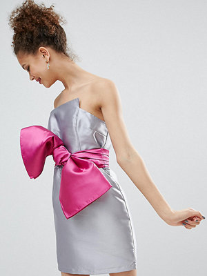 ASOS Petite Structured 80's Bow Cocktail Dress