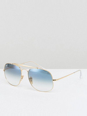 Ray-Ban The General Aviator with Ombre Blue Lens