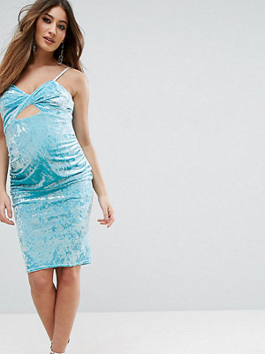 ASOS Maternity Cami Velvet Cut Out Dress - Bright turquoise