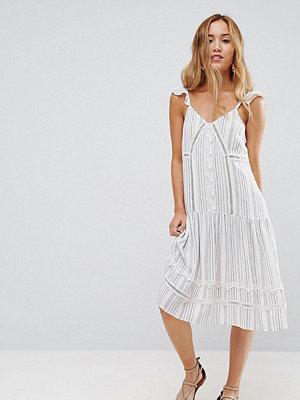 ASOS Petite Cotton Stripe Midi Sundress with Cotton Trim