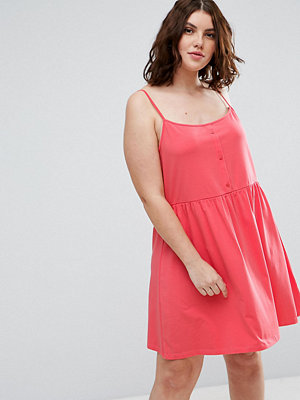 ASOS Curve Cami Smock Dress with Button Placket
