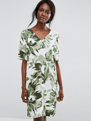 Selected Tropical Print Shift Dress