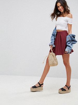 ASOS Textured Mini Skirt with Box Pleats