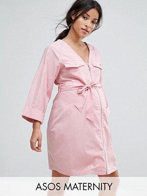 ASOS Maternity V Neck Utility Mini Dress