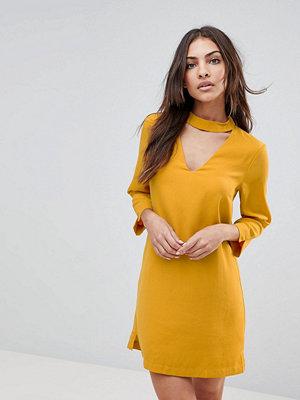 The English Factory Choker Neck Long Sleeve Dress