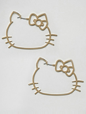 ASOS örhängen Hello Kitty x  Cut Out Hoop Earrings