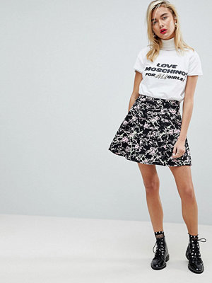 Love Moschino Marbled A-Line Skirt