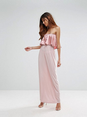 Oh My Love Frill Front Maxi Dress - Pink blush