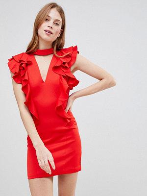 Glamorous Frill Choker neck Dress