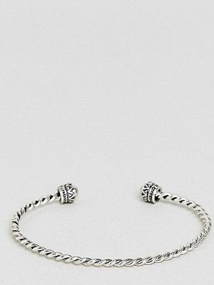 ASOS Curve armband ASOS DESIGN Curve Burnished Twist Cuff Bracelet - Burnished silver