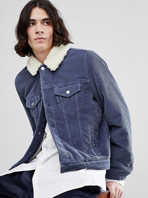 Jeansjackor - ASOS Cord Western Jacket With Borg Collar