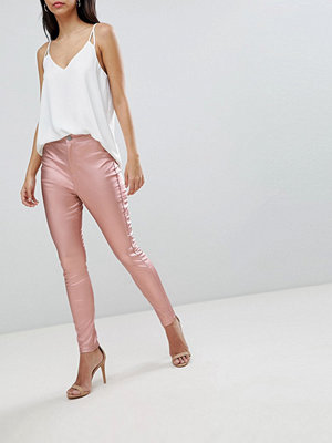 ASOS DESIGN Rivington High Waist Denim Jeggings In Rose Gold Satine - Rose gold