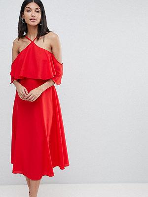 Asos Tall ASOS DESIGN Tall ruffle top midi dress