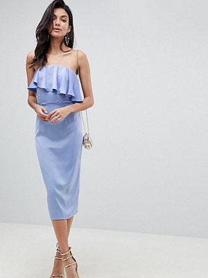 Asos Tall ASOS DESIGN Tall soft bandeau crop top pencil dress
