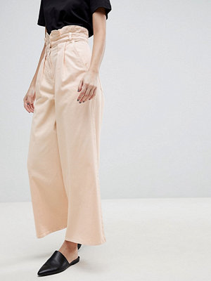 ASOS White High Waist Co-ord Jean