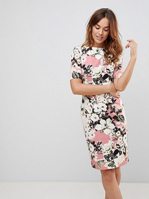 Paper Dolls Rose Lily Print Wiggle Dress - Rose multi