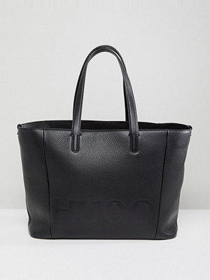 Hugo Logo Leather Shopper Bag
