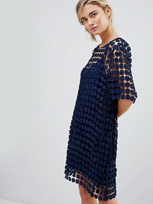 See U Soon Shift Dress in Floral Crochet