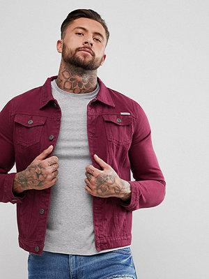 Jeansjackor - Liquor N Poker Red Denim Jacket