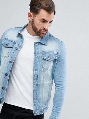 Jeansjackor - Liquor N Poker Muscle Fit Stretch Denim Jacket