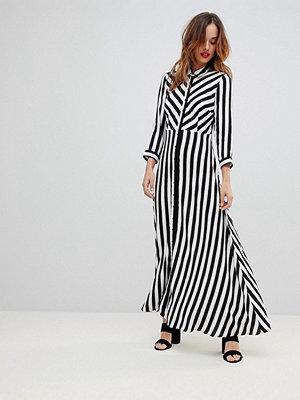 Y.a.s Stripe Maxi Shirt Dress