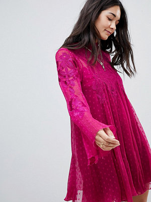 Free People Cocquet Sheer Mini Dress