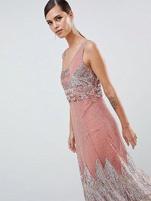 ASOS Edition Scallop Embellished Midi Dress
