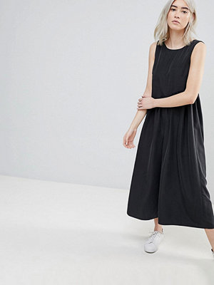 ASOS Minimal Jumpsuit with Gathered Waist and Wide Leg