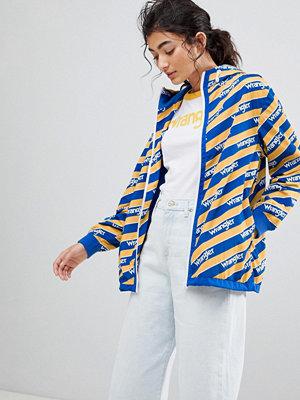 Wrangler Blue and Yelow Zip Through Windbreaker Jacket - Amber yellow