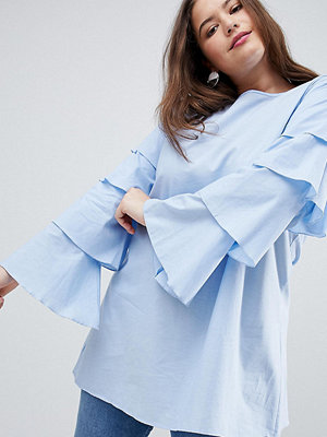 Ax Paris Plus Tiered Sleeve Tunic Dress